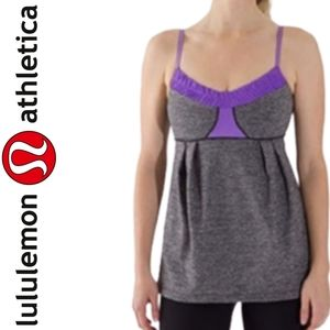 Lululemon Yogi Dance Tank Top Purple Heathered